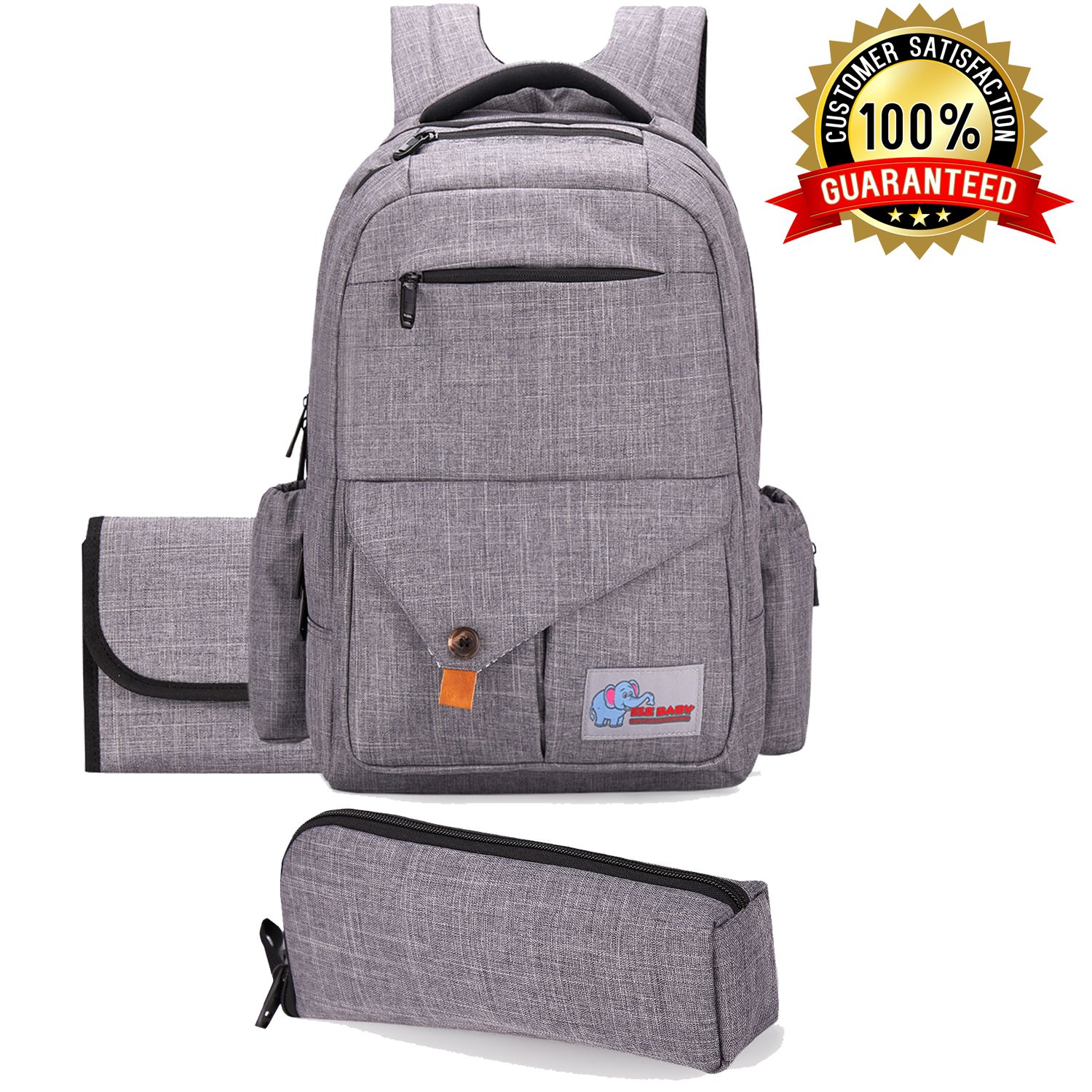 Baby Diaper Bag Backpack Multi-functional Travel Backpack with Changing Pad  and BONUS Insulated Bottle Bag 3066deb81bc64